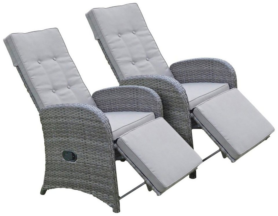 GARDEN PLEASURE Loungesessel SALERNO 2er Set