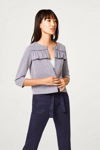 ESPRIT Kurze Jacke mit Fischgrat-Muster