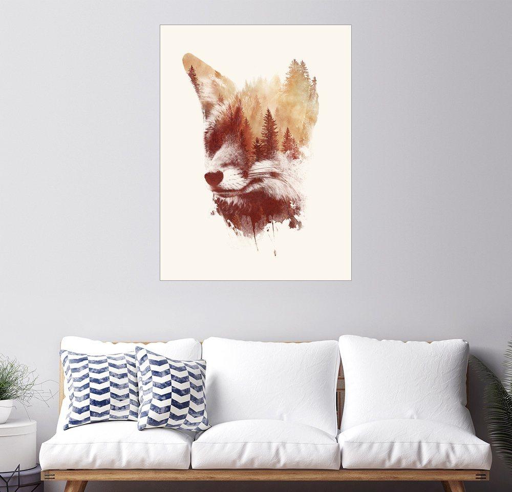 Posterlounge Wandbild - Robert Farkas »Blinder Fuchs« | Dekoration > Bilder und Rahmen > Bilder | Holz | Posterlounge