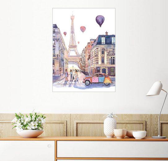 Posterlounge Wandbild - Anastasia Mamoshina »Eiffelturm und Citroen 2CV in Paris«
