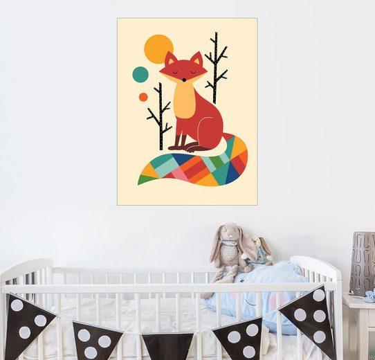 Posterlounge Wandbild - Andy Westface »Regenbogenfuchs«