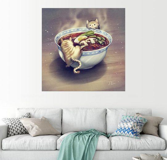 Posterlounge Wandbild - Jasmin Eilers »Katzen und japanische Suppe«