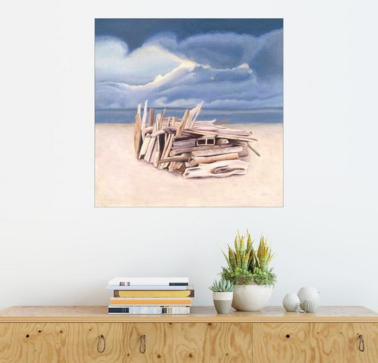 Posterlounge Wandbild - Jennifer McLennan »Strandhütte«