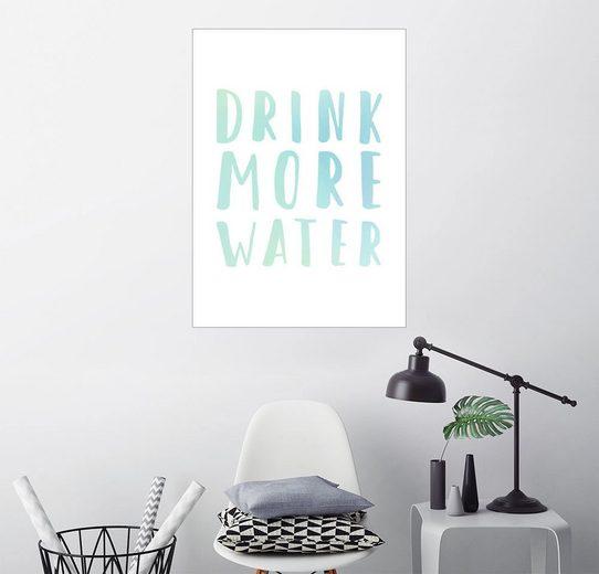 Posterlounge Wandbild - Typobox »Mehr trinken«