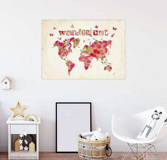 Posterlounge Wandbild - Mandy Reinmuth »Wanderlust Rosa«