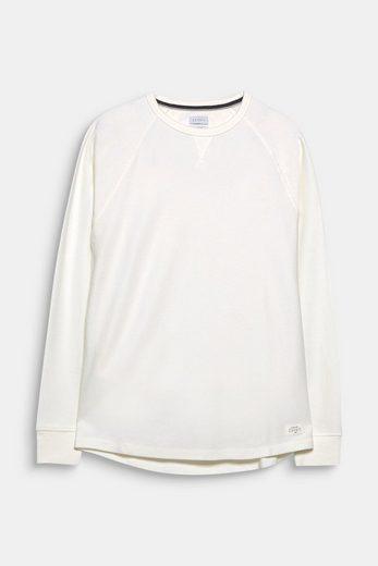 ESPRIT Fein strukturierter Sweater aus reiner Baumwolle