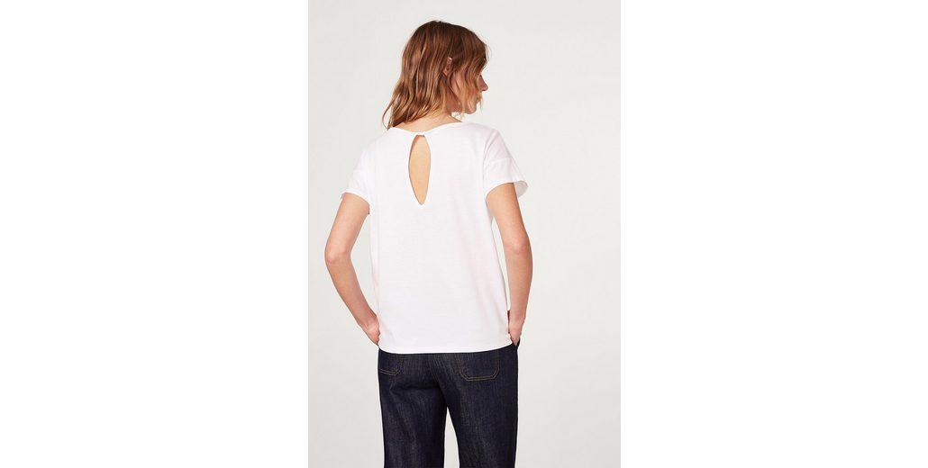 Rabatt Veröffentlichungstermine Niedriger Preis Online EDC BY ESPRIT Lockeres T-Shirt mit Rückenausschnitt qrCdJ