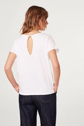 EDC BY ESPRIT Lockeres T-Shirt mit Rückenausschnitt