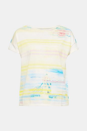 EDC BY ESPRIT Baumwoll-T-Shirt mit Allover-Print