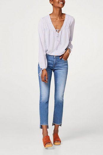 EDC BY ESPRIT Stretch-Jeans mit asymmetrischem Saum