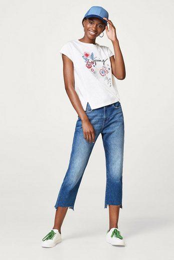 ESPRIT T-Shirt mit frühlingshaftem Print