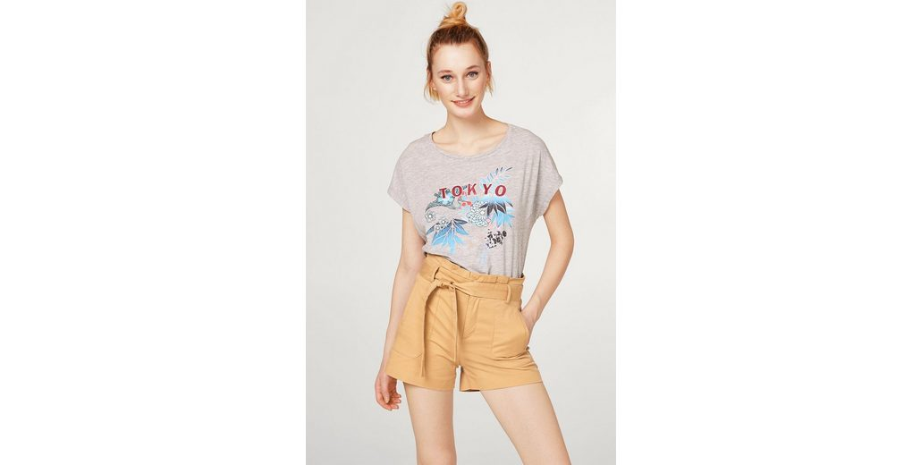 ESPRIT Leichtes Melange-Shirt mit Glitzer-Print Verkauf 100% Authentisch p3cHTWTC