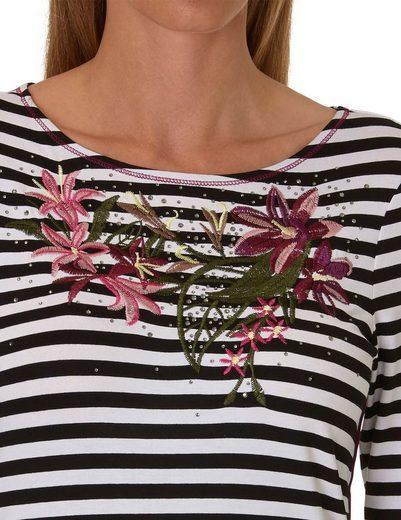 Betty Barclay Shirt mit Streifen und Applikation