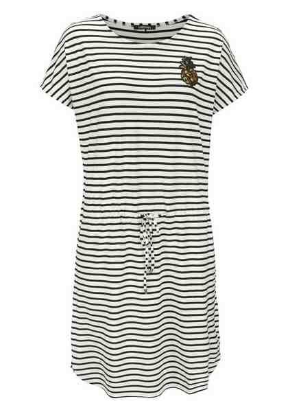 Olsen Jerseykleid Streifenkleid aus Jersey mit Paillettenapplikation