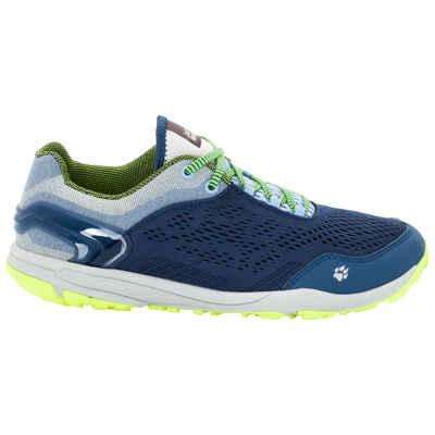 Jack Wolfskin Frauen Trail Running Schuhe Crosstrail Knit Low Women 35,5 blau