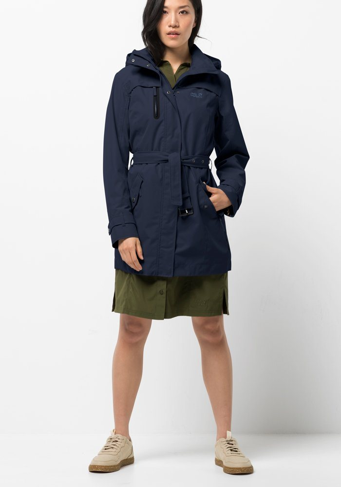 Jack Wolfskin Trenchcoat »KIMBERLEY COAT« | Bekleidung > Mäntel > Trenchcoats | Blau | Polyester | Jack Wolfskin