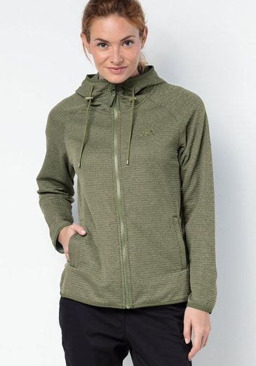 Jack Wolfskin Fleecejacke TONGARI HOODED JACKET WOMEN