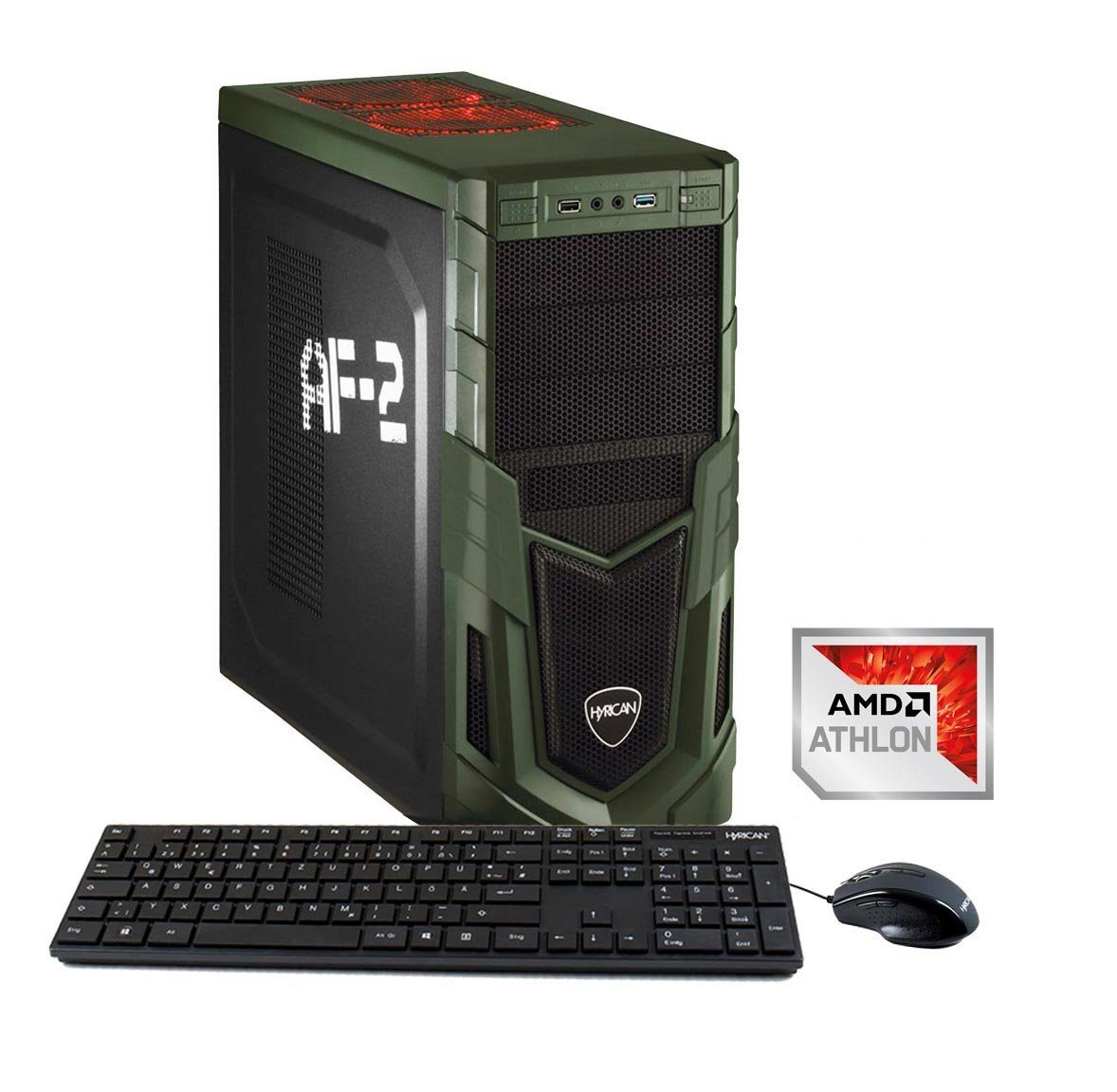 HYRICAN Gaming PC AMD Athlon X4 950 8GB 1TB HDD GeForce® GTX 1050 »Military 5847«
