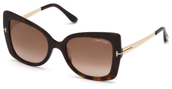 Tom Ford Damen Sonnenbrille » FT0609«, braun, 52G - braun/braun