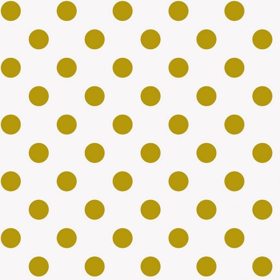 """Baumwoll-Stoff """"Goldene Punkte"""" 140 cm breit (Meterware) online kaufen"""