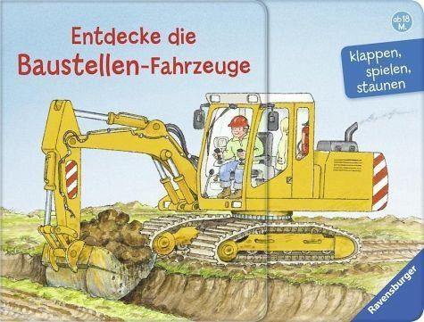 Buch mit Papp-Einband »Entdecke die Baustellen-Fahrzeuge«