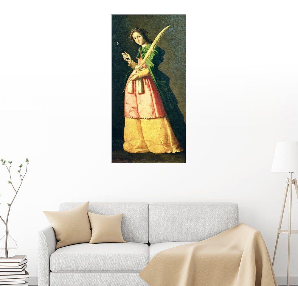 Posterlounge Wandbild - Francisco de Zurbaran »Hl. Apollonia« | Dekoration > Bilder und Rahmen > Bilder | Holz | Posterlounge