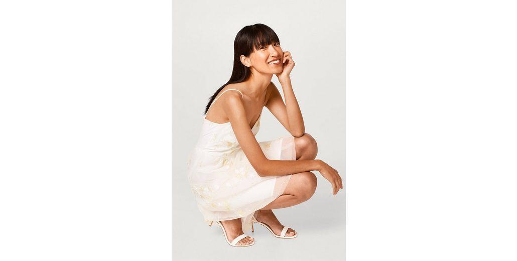 ESPRIT COLLECTION T眉ll-Kleid mit Blumen-Dessin
