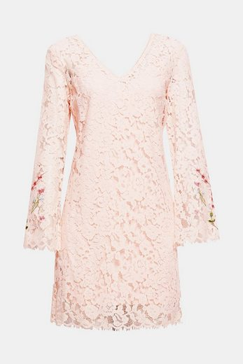 ESPRIT COLLECTION Kleid aus Spitze mit Jerseyfutter
