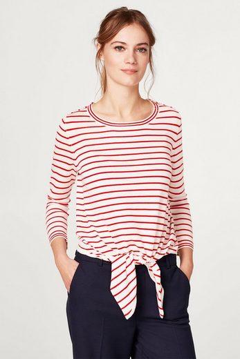 ESPRIT Gestreifter Sweater mit Schleifendetail