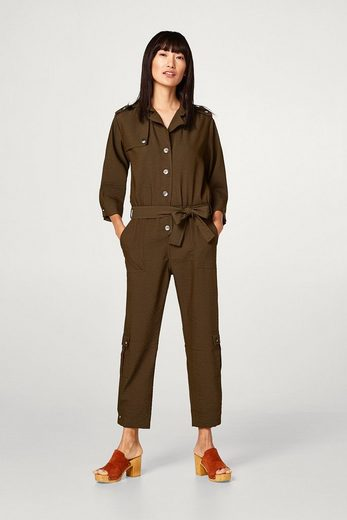 Esprit Flowing Jumpsuit In Trench-look