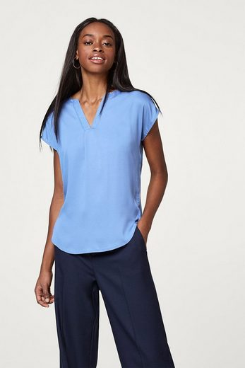 Esprit Collection Soft Flowing Blouses-top With V-neck