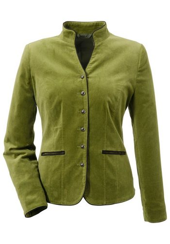 Damen Trachtenblazer Damen mit Schulterpolster grün | 04041856266383