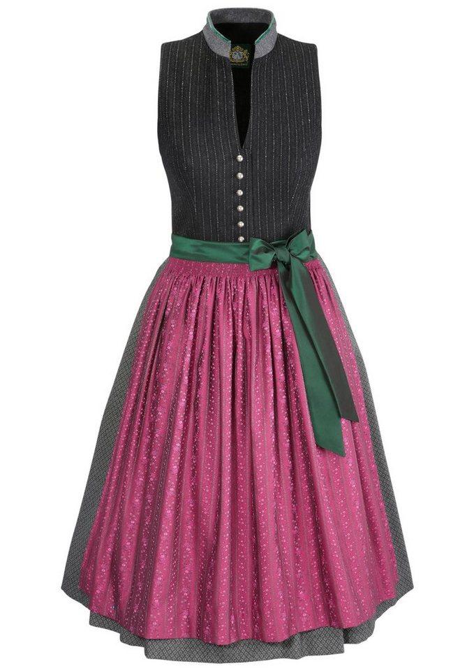 Damen Hammerschmid Dirndl midi im Vintage-Style grau   04043857022944