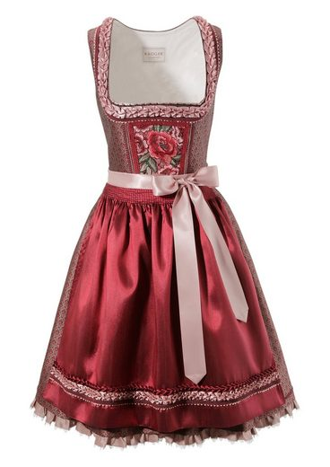 Krüger Collection Dirndl midi mit Brokatmuster