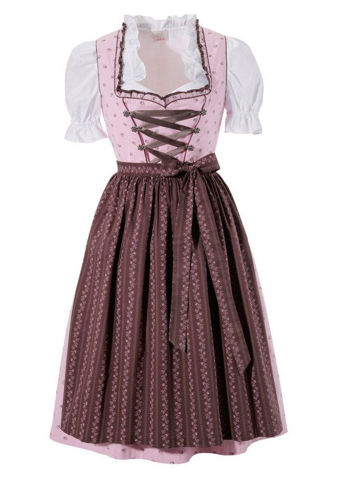 Damen Dirndl 3tlg. mit Zipp hinten rosa | 04041856265577