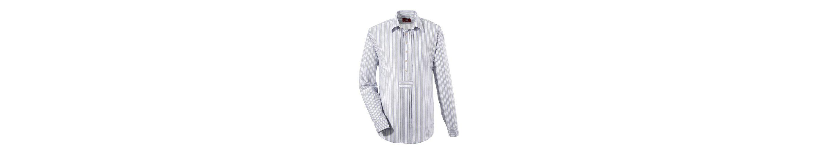 OS-Trachten Trachtenhemd im modischem Streifendesign Komfortabel Günstiger Preis Billig Verkauf 100% Original ajSQU8