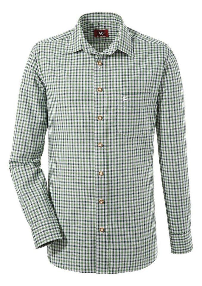 OS-Trachten Trachtenhemd im modischem Karodesign | Bekleidung > Hemden > Trachtenhemden | Grün | OS-Trachten
