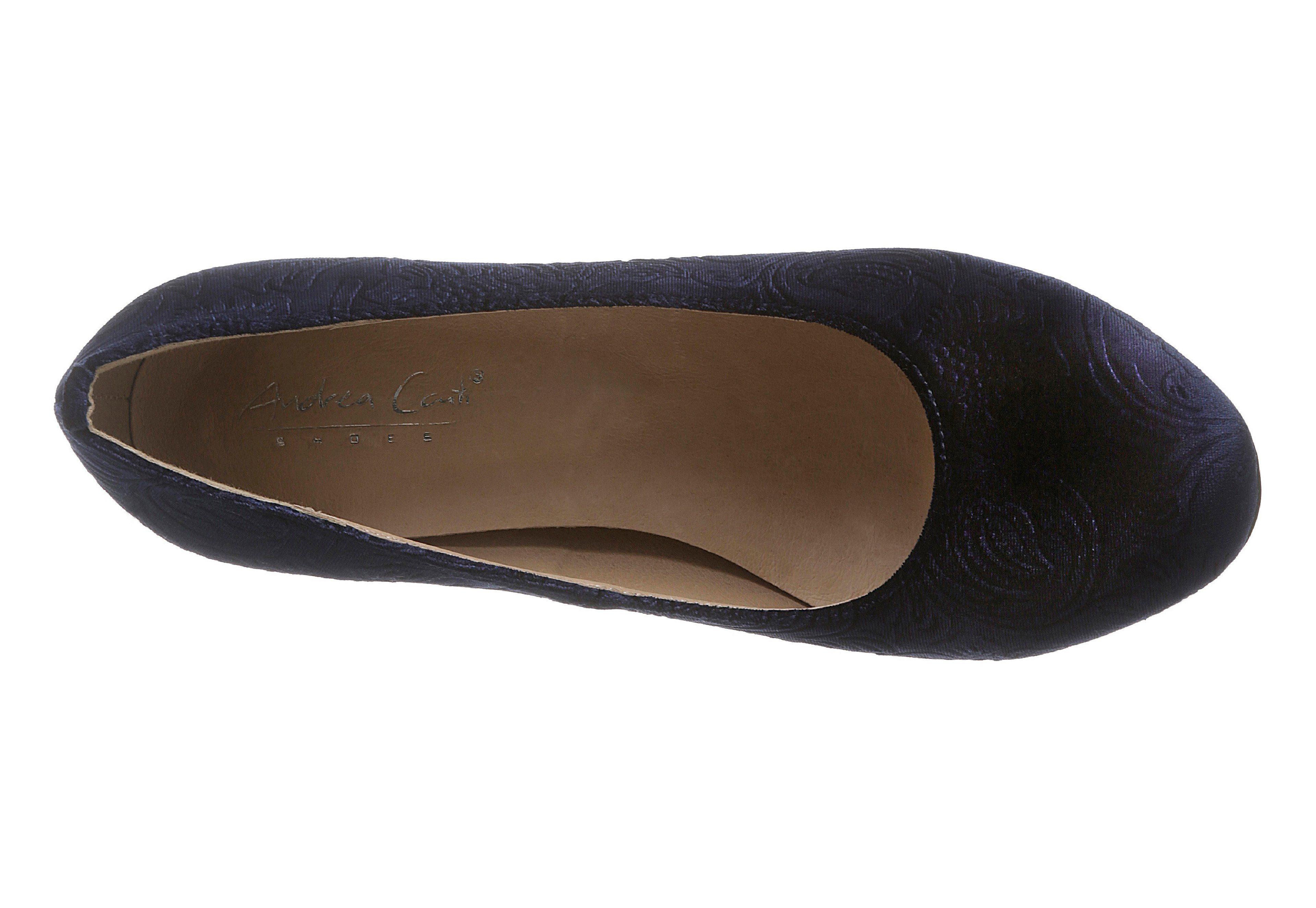 Andrea Conti Trachtenpumps mit Lederdecksohle  dunkelblau