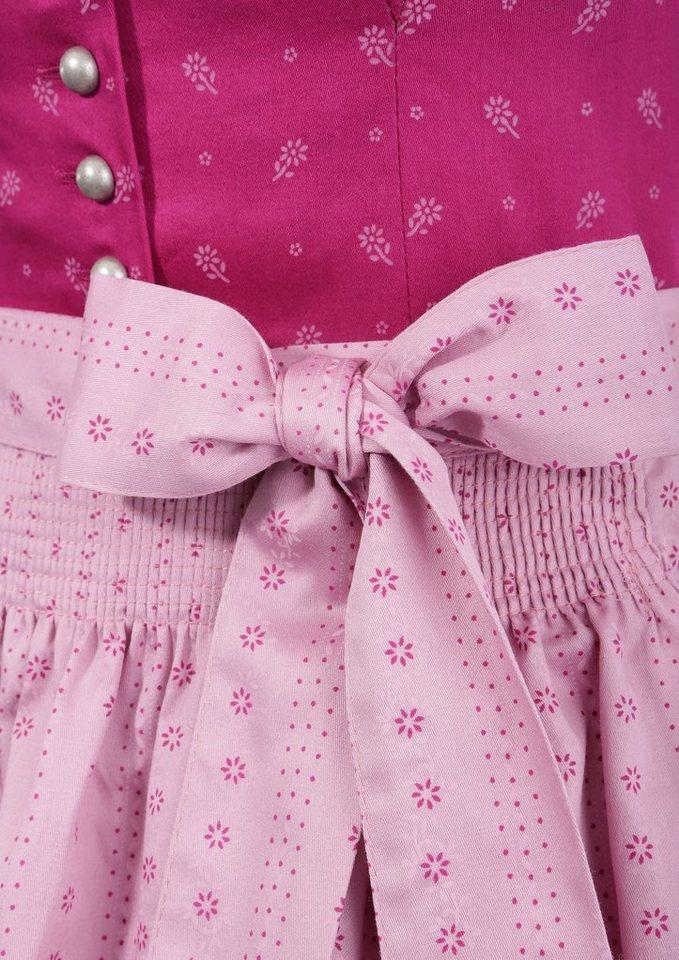 Damen Turi Landhaus Dirndl midi in angenehmer Baumwoll-Qualität rosa | 04012043532901