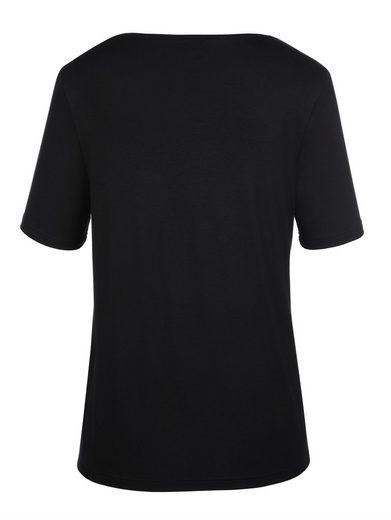 MIAMODA Shirt vorne bedruckt