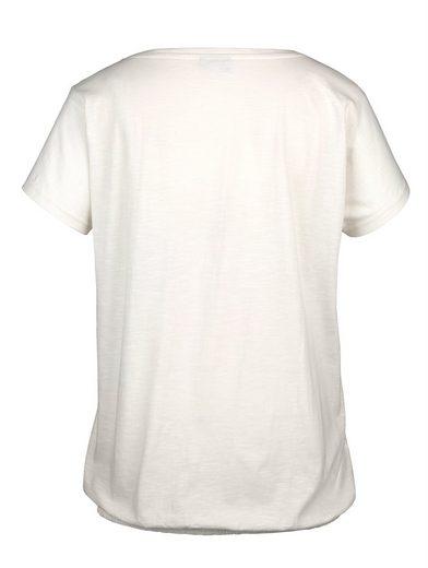 MIAMODA Shirt vorne mit glitzernden Stern-Motiven bedruckt