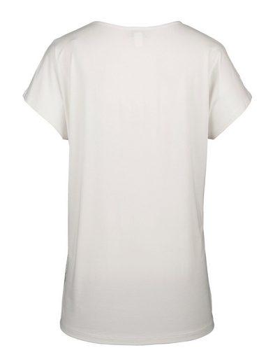 MIAMODA Shirt mit Glitzer-Druck