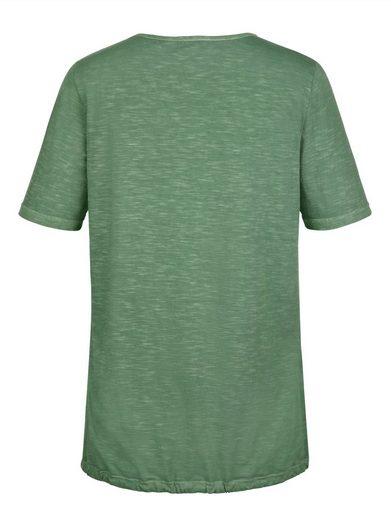 MIAMODA Shirt mit besticktem Vorderteil