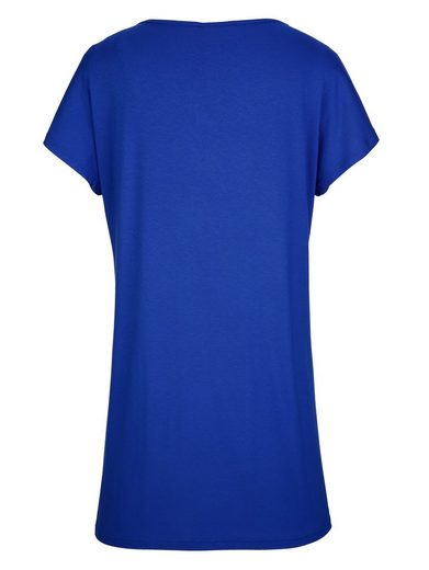 MIAMODA Shirtkleid mit glänzendem Druckmuster vorne