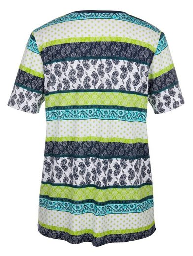MIAMODA Shirt mit farbenfrohem Mustermix