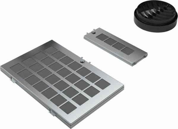 NEFF Umluftmodul Z51AIR0X0, Zubehör für Dunstabzugshauben mit Umluftbetrieb, Starterset, regenerierbar