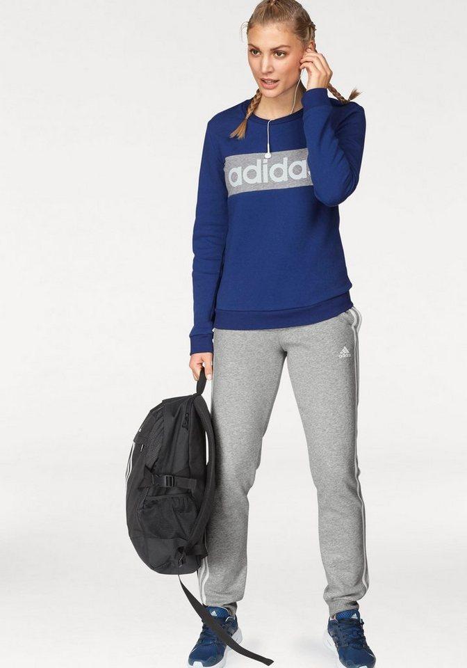 adidas Performance Jogginganzug »WOMEN TRACKSUIT COTTON CHILLOUT« (Set, 2 tlg), auch in großen Größen | Sportbekleidung > Sportanzüge > Jogginganzüge | Blau | adidas Performance