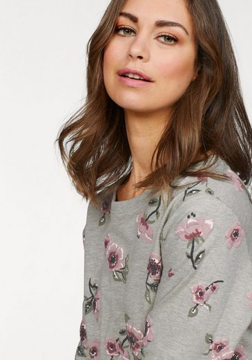 Blumen Boysen's Sweatshirt Mit print Gummiertem Allover SvAfwxP