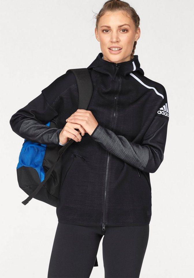 adidas Performance Trainingsjacke »WOMEN ZNE HOODIE PARLEY«   Sportbekleidung > Sportjacken > Trainingsjacken   Schwarz   Polyester   adidas Performance