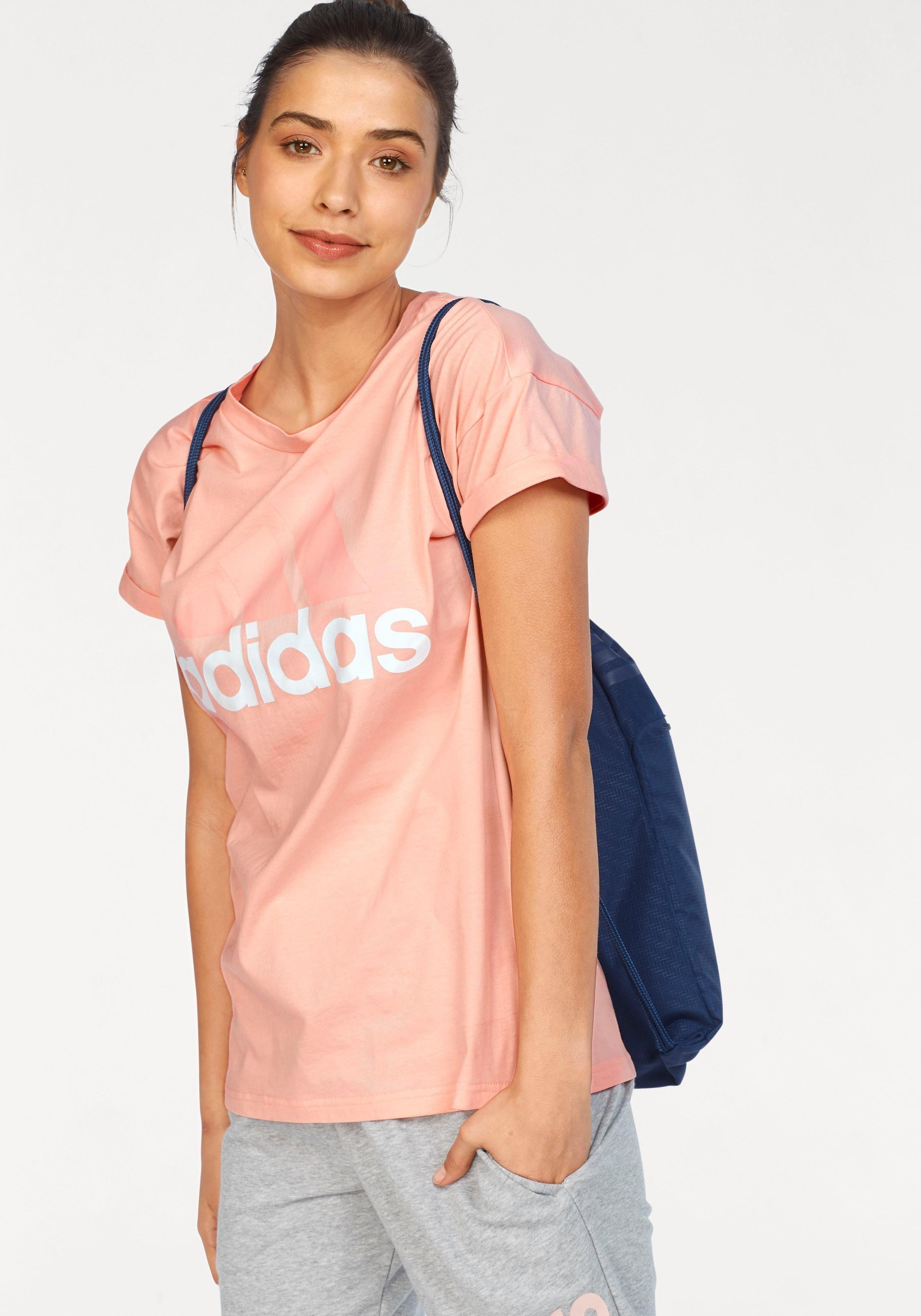 adidas Performance T Shirt »ESSENTIALS LINEAR LOOSE TEE« auch in großen Größen online kaufen | OTTO